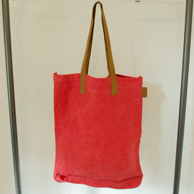 30%OFF トートバッグ Leather Handle Tote apple green duck